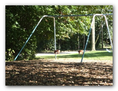 Swings at Kiwanis Bluff