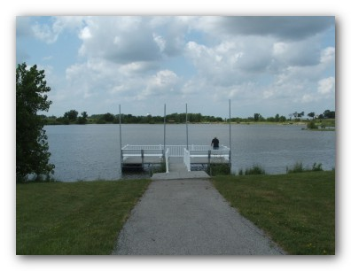 Fishing Dock at Prairie Lakes