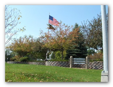 Flag at Veterans Park